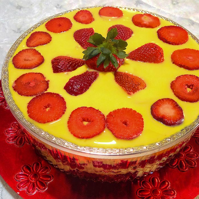 ... and a delicious custard is ready to quench your craving for a dessert